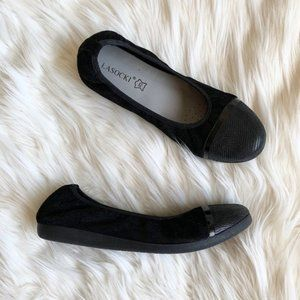 Worn Once Leather Suede Ballet Flats